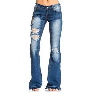 AFFLICTION Women's Denim Jeans GINGER RISING VENIC